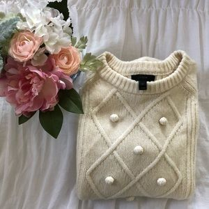 "J. Crew Sweaters - ""JUST IN"" J. Crew cream sweater"